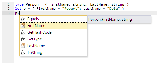 Intellisense Example #2