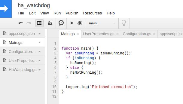 GitHub - sagilo/home-assistant-watchdog: Google Apps Script