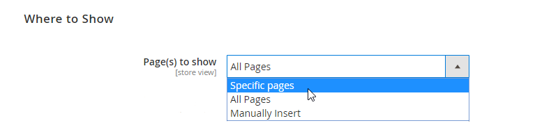 which page to show