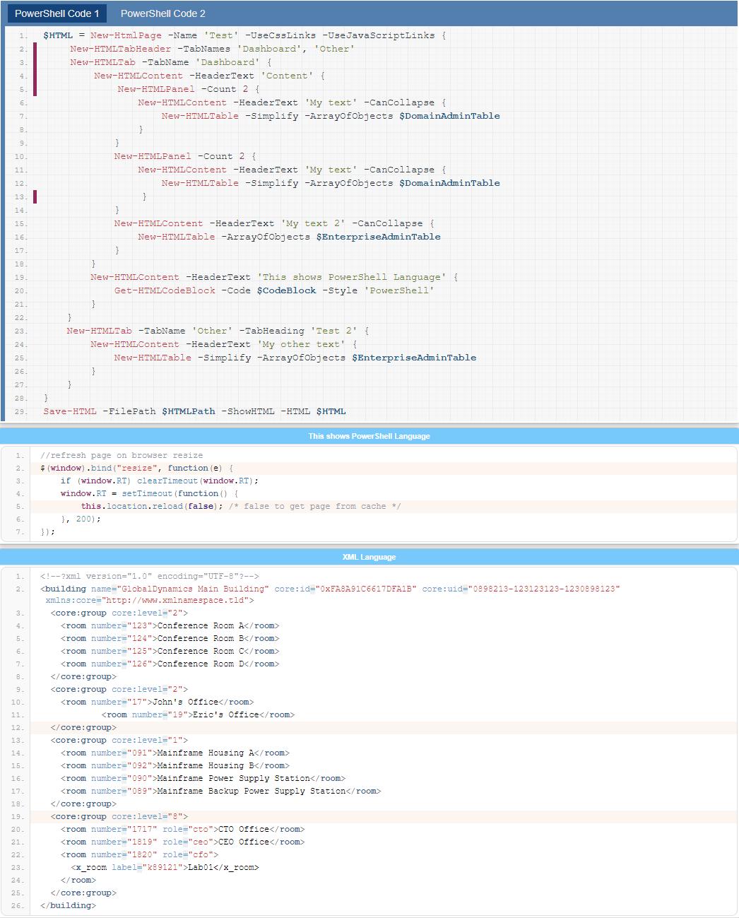 GitHub - EvotecIT/PSWriteHTML: PSWriteHTML is PowerShell module