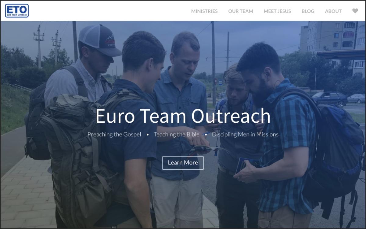 euroteamoutreach.org screenshot