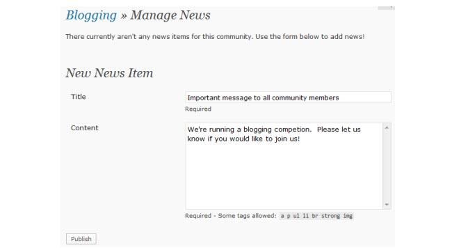 Sending news