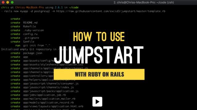 GitHub - excid3/jumpstart: Easily jumpstart a new Rails
