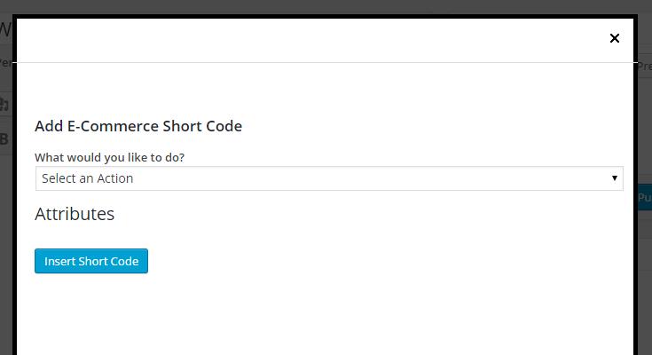 MarketPress - Shortcode Generator Popup