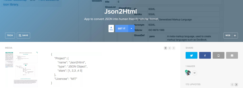 Json2Html App