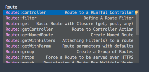 Laravel Routes Screenshot