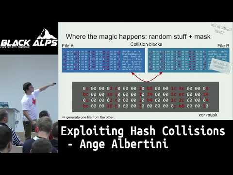 Exploiting hash collisions Youtube video