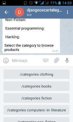 Telegram Bot Example