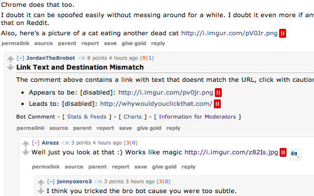 Some deceptive links in the same Reddit thread