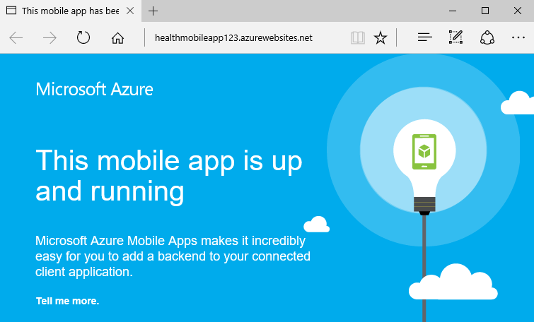 Create and deploy a mobile app in Azure App Service · microsoft
