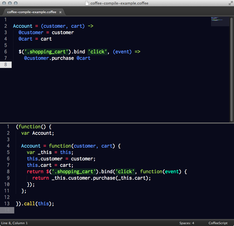 CoffeeCompile Screenshot