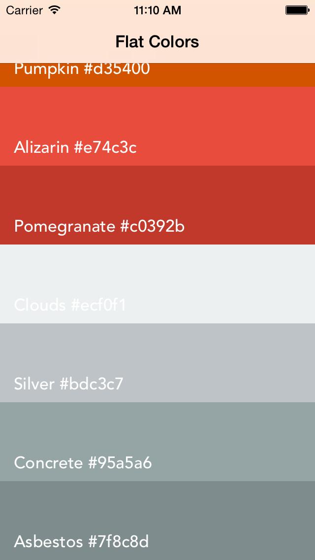 UIColor+FlatDemo app 3