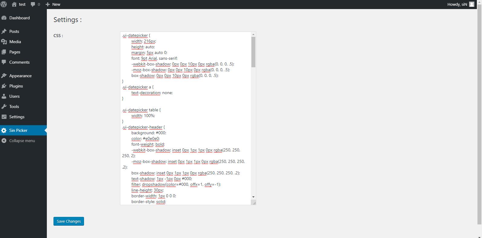 GitHub - sindev95/sinpick: jQuery datepicker plugin for