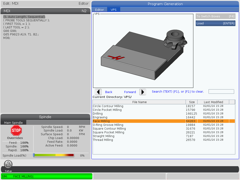 Github Anirudhpal Opendnc Open Source Direct Numerical Control Fig 4 Rear Terminals Of A Midrange Controller Figure Image Haas Next Generation In The Vps Face Milling Menu