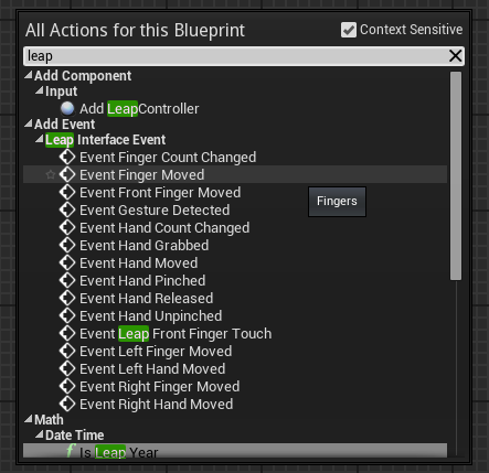 Github getnamoleap ue4 leap motion plugin for unreal engine 4 events malvernweather Images