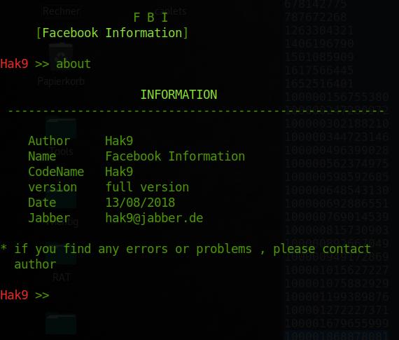 GitHub - xHak9x/fbi: Facebook Information
