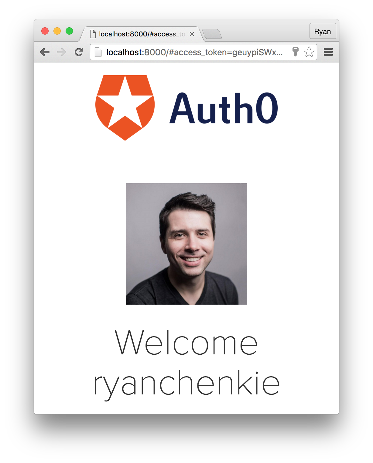 react profile auth0