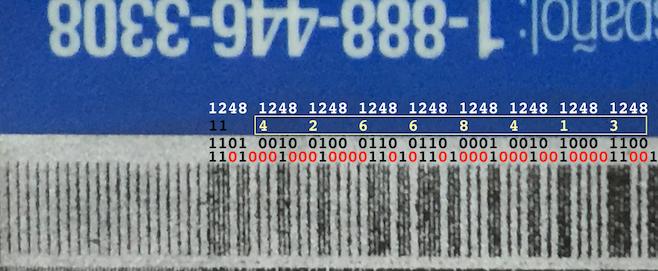 Credit card magnetic stripe