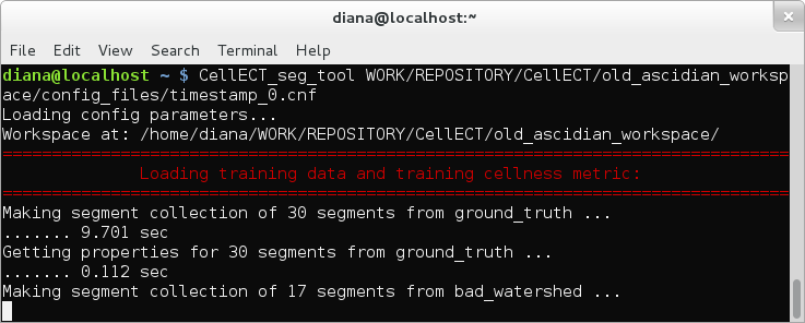 Progress and duration information is displayed in the terminal