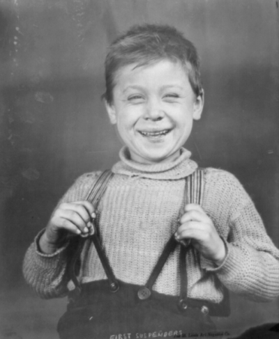 Suspenders boy