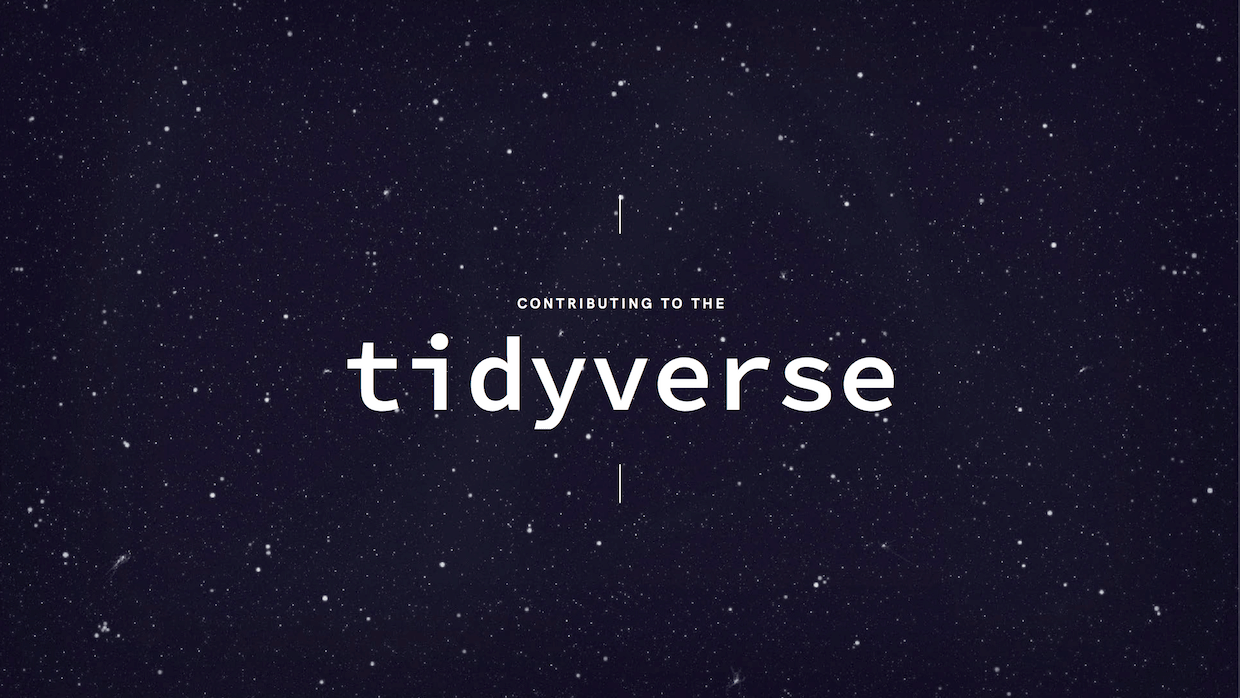 contributing to the tidyverse title slide