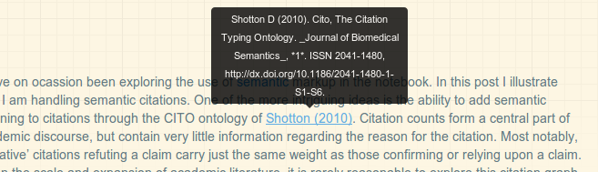 Screenshot of citation produced with a tooltip.