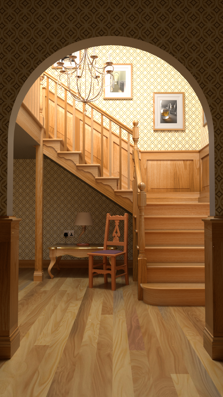 Staircase rendered by rs_pbrt