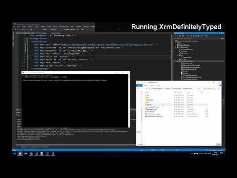 XrmDefinitelyTyped: Setup, configuration, and usage