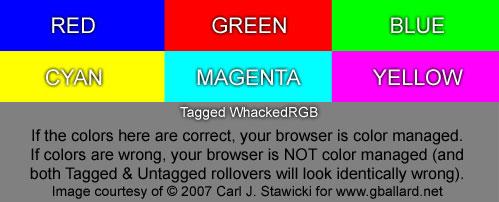 Browser color test image