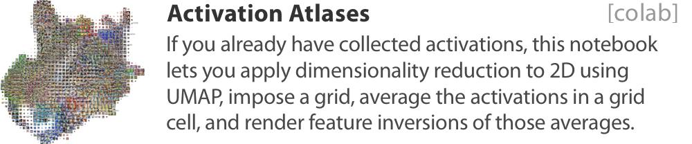 Simple activation atlas
