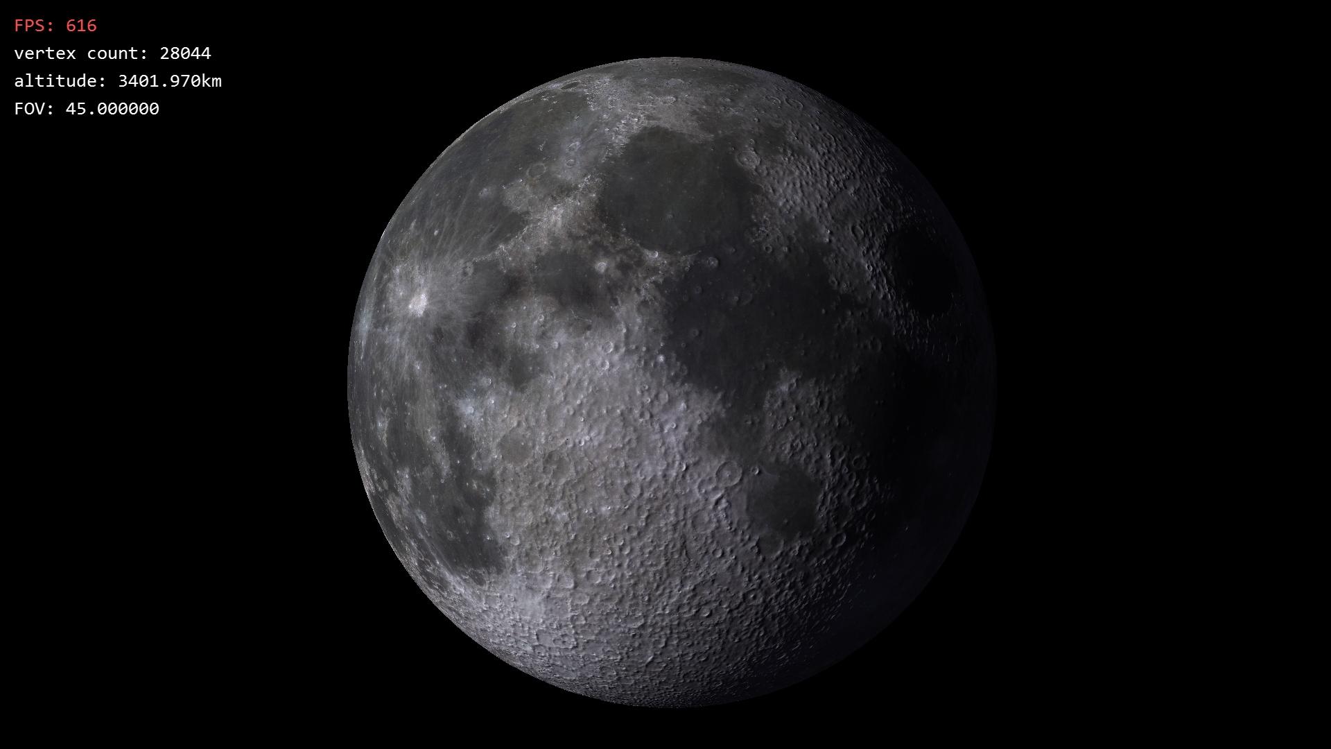 Text Rendering Moon Planet terrain LOD Robert Lindner