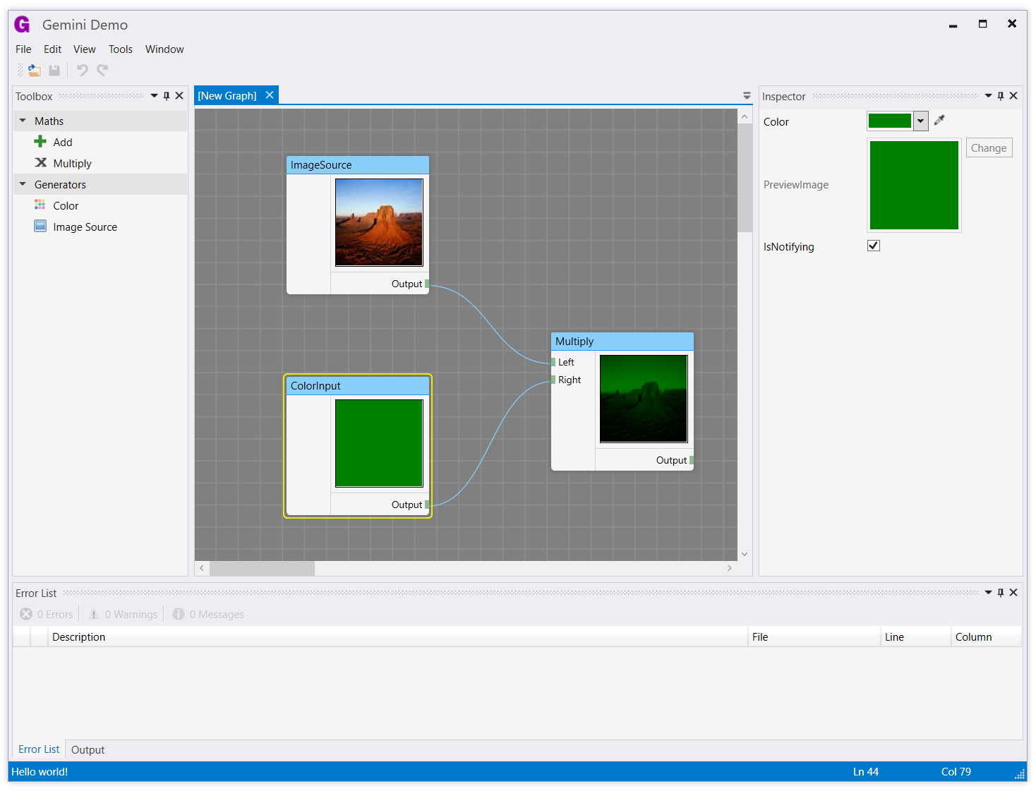 Screenshot - Light theme