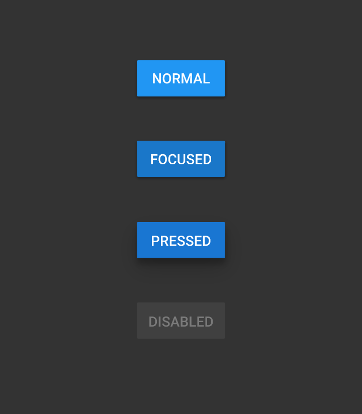 Material Design кнопки синие