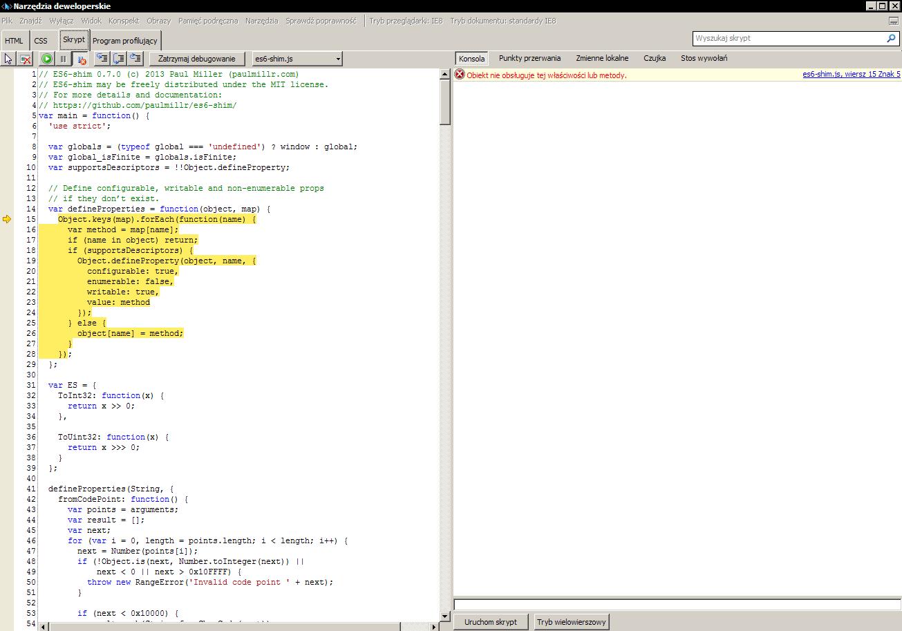 fails on Internet Explorer 8 · Issue #53 · paulmillr/es6