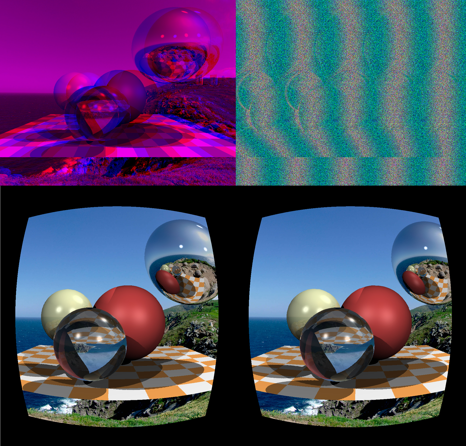 Part 2: low budget stereo rendering · ssloy/tinyraytracer