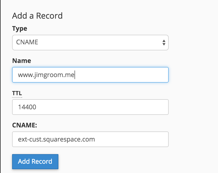 Verify Squarespace