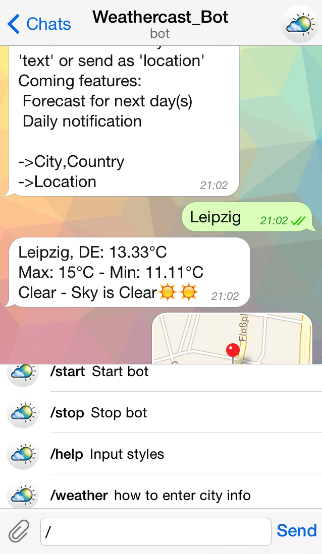 GitHub - mustafababil/Telegram-Weather-Bot: weather cast information