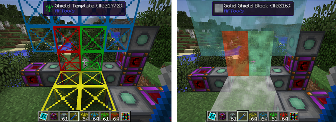 rftools how to keep dimension builder charged