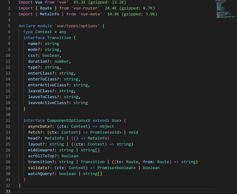 TypeScript TypeDefs Suggestion for Nuxt 2 x · Issue #4050 · nuxt