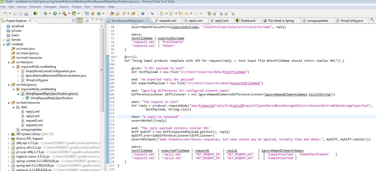 Figure 1 - The code in the IDE