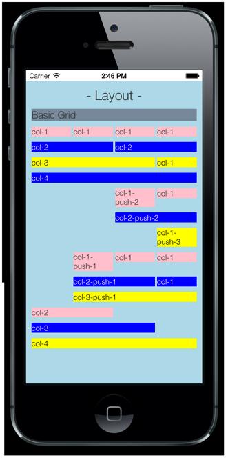 Layout basic grid