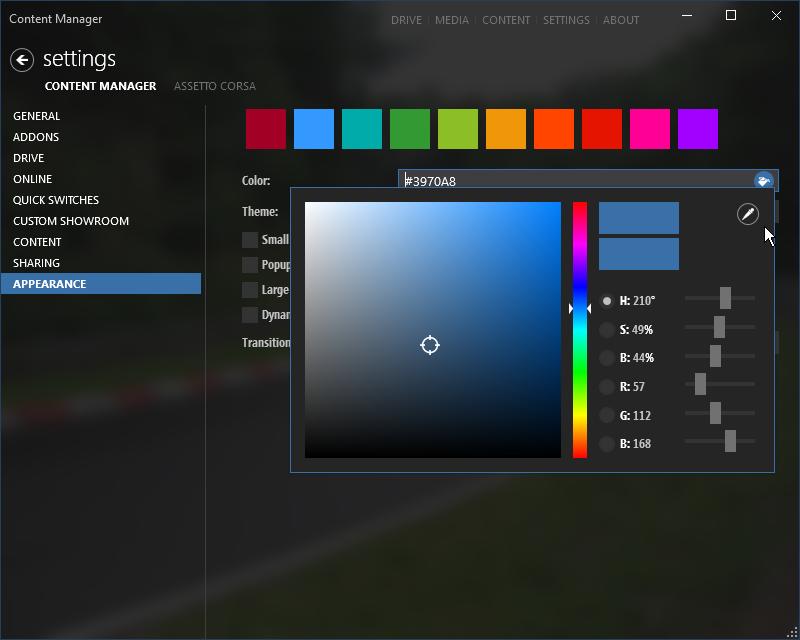 New colorpicker control