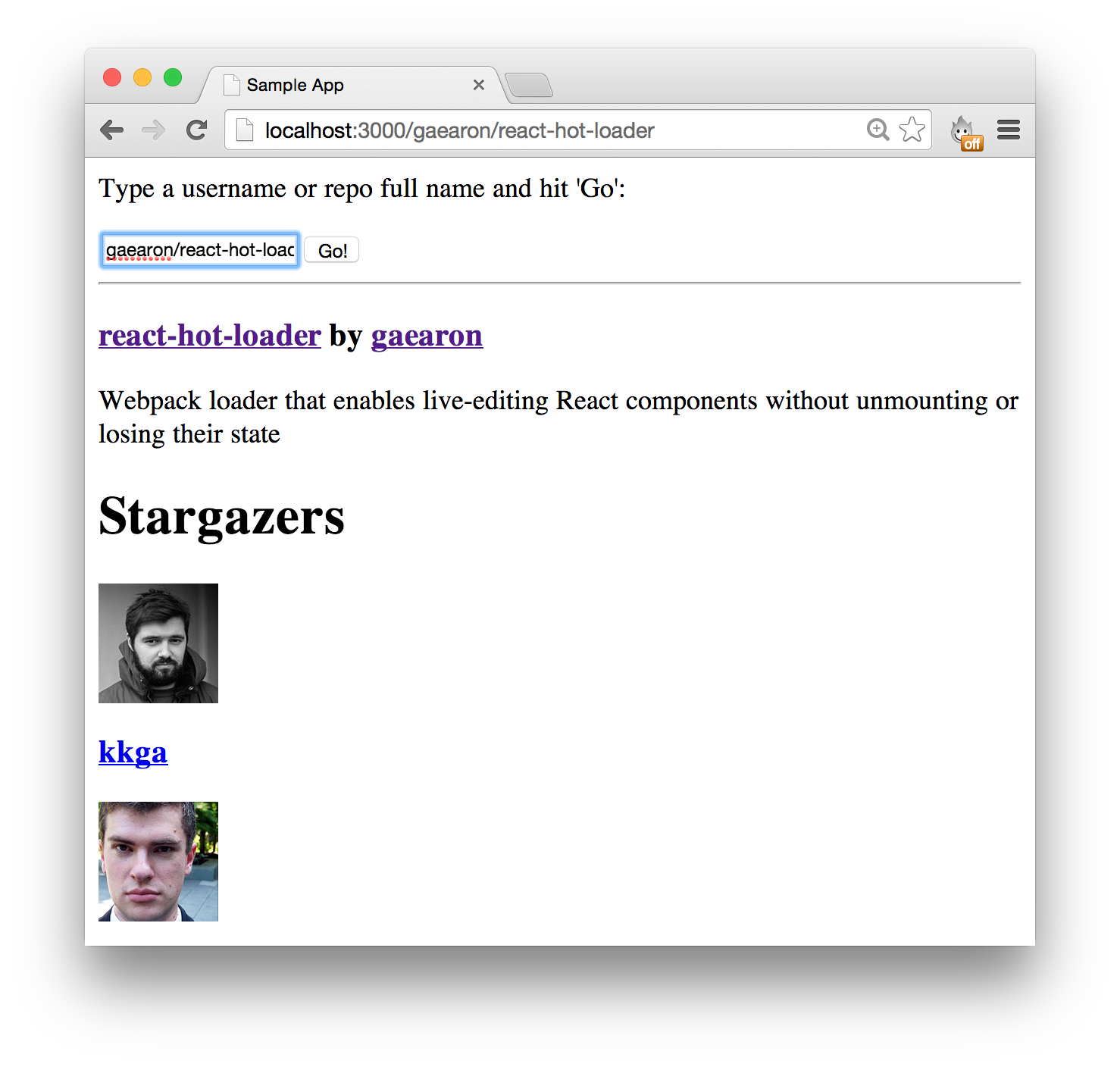GitHub - gaearon/flux-react-router-example: A sample app
