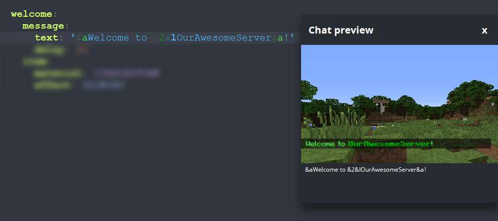 Chat preview