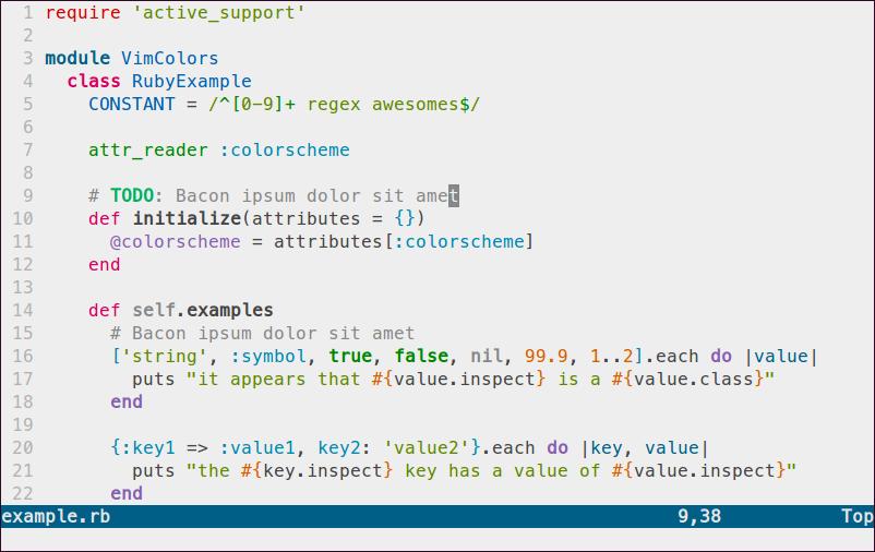 Sample Ruby code