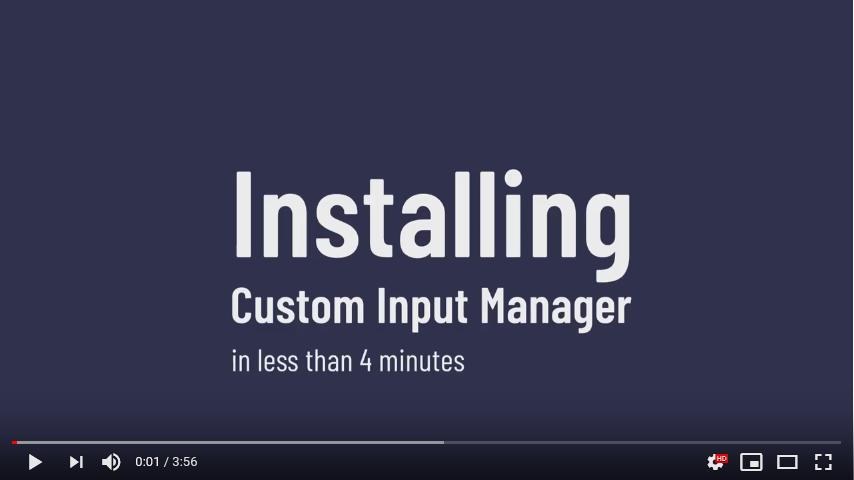 Unity - Custom Input Manager Setup Tutorial