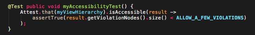 Screenshot of an example Code test.