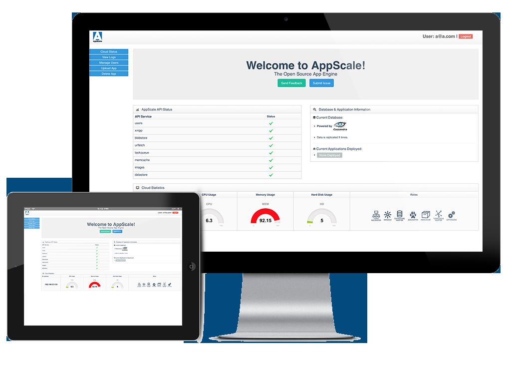 AppScale Dashboard Screenshot