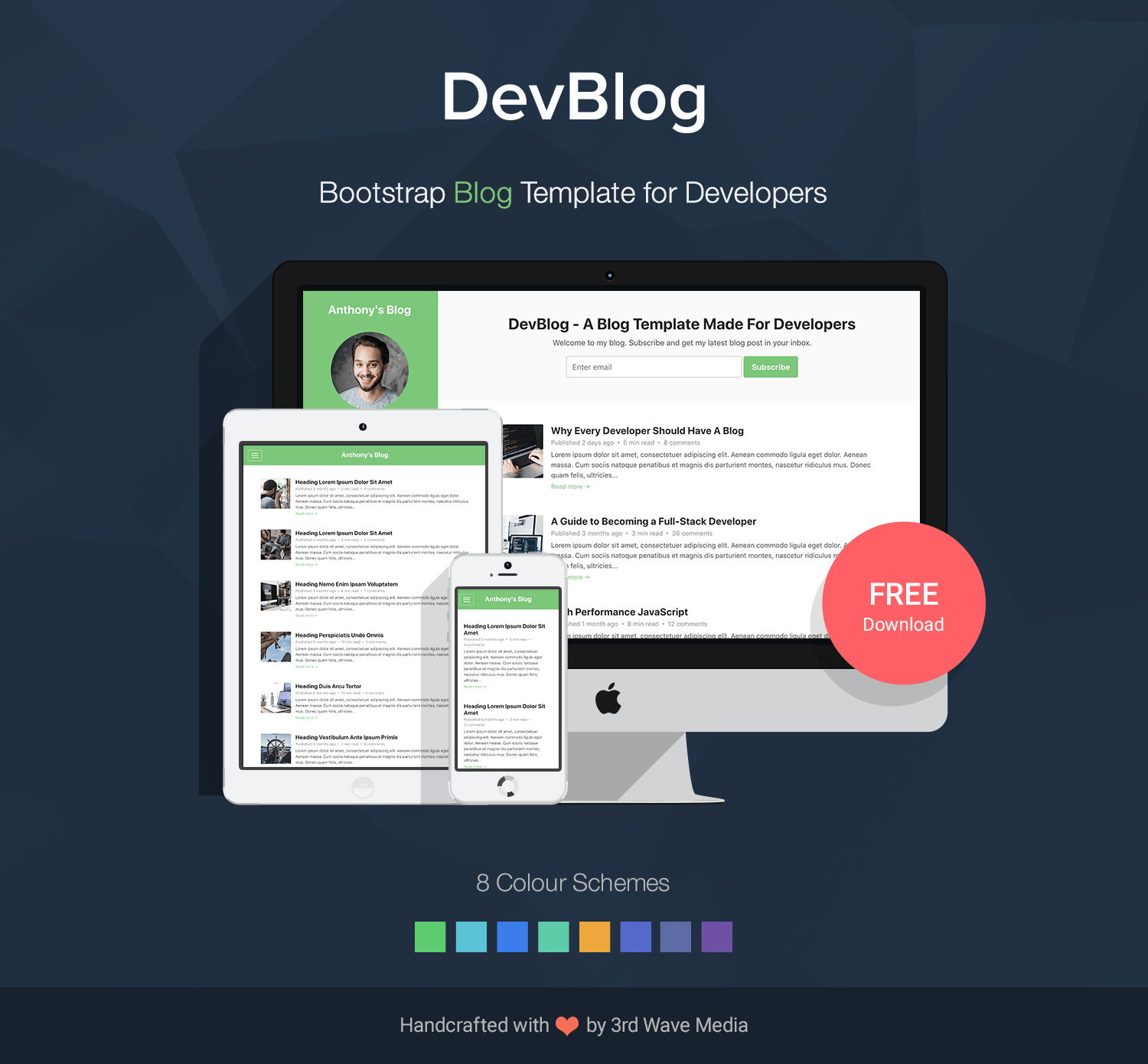 Bootstrap 5 Blog Template for Developers