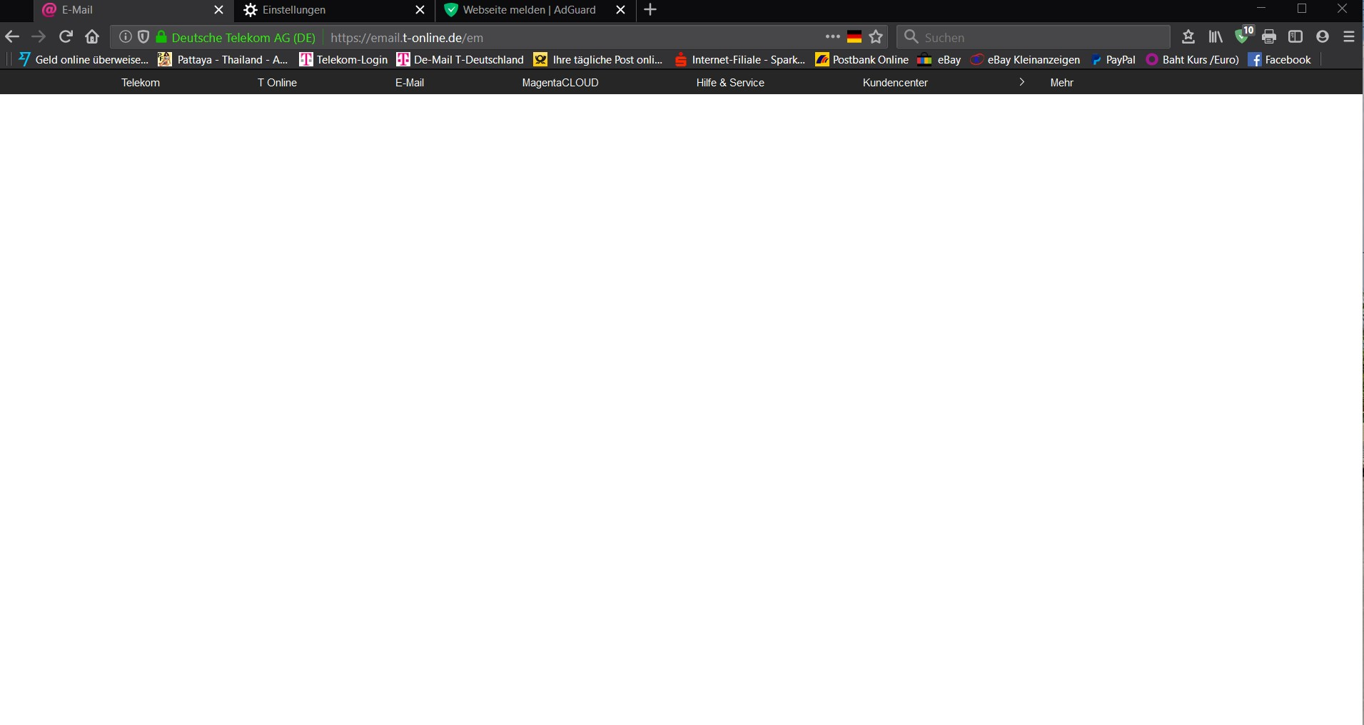 Telekom login email t-online